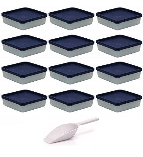 mikken Gefrierdosen, Kunststoff, weiß, 12er Set / 250 ml