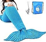 LAGHCAT Mermaid Tail Blanket Crochet Mermaid Blanket for Adult,...