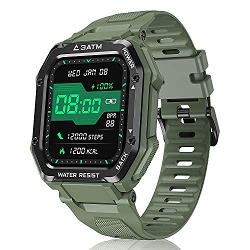 """Smartwatch Reloj Inteligente Hombre Mujer, 1,69"""" Relojes Inteligentes con Pulsómetro, Podómetro, Presión Sanguínea, 20 Modos Deportivo Pulsera Actividad Inteligente Impermeable para Android iOS"""