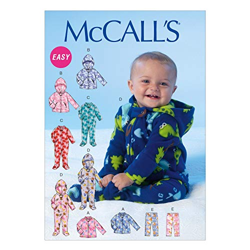 McCall Pattern Company M7039 Infants' Jackets, Bodysuits and Pants Sewing Template, YA5