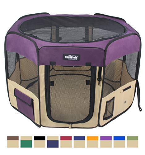 EliteField 2-Door Soft Pet Playpen, Exercise Pen, Multiple Sizes and Colors Available for Dogs, Cats...