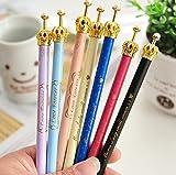 ONOR-Tech Set of 6 Lovely Cute Adorable Crown Design Ballpoint Pen Ball Pen for School, Office, Family use