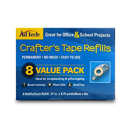 AdTech 05674 Permanent Crafters Tape Refills, single unit