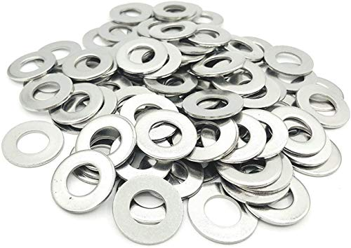 YUOCU 1/2 inch Stainless Flat Washers,18-8 SAE 304 Stainless Steel, 50 Pack (1/2 Inches)
