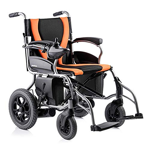 L.TSA Electric Powered Wheelchair, Lightweight Portable Folding Heavy Duty Mobility Scooter,Compact Motorized Wheelchair