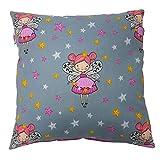 Babymajawelt® Baby Kopfkissen, Dekokissen Kissen 40x40 Reisekissen, Kinderkissen (Tänzer-Fee pink)