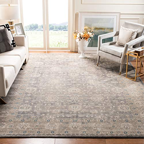 Safavieh Sofia Collection Vintage Light Grey and Beige Distressed Area Rug (8