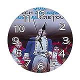FETEAM Reloj de Pared Hamilton American Musical Relojes de Pared Funciona con Pilas Silencioso Decoración Pared para Cocina, Salon, Oficina, Dormitorio 25cm