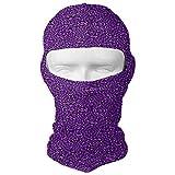 Vidmkeo Psychedelic Butterfly Swirl Purple Black Men Women Balaclava Neck Hood Full Face Mask Hat Sunscreen Windproof Breathable Quick Drying New5