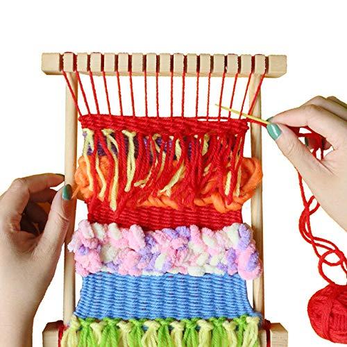 Loom wever diy handgeweven wollen sokken speelgoed kerstcadeau making