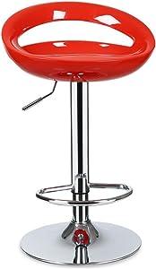 DQMSB Lift Stuhl Nach Hause Rückenlehne Rezeption Hochhocker Modernen Minimalistischen Barhocker (Color : Red)