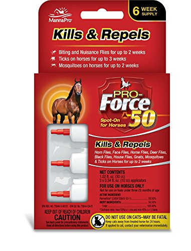 Manna Pro Pro-Force 50 Spot-On Fly Control for Horses, 3 Count