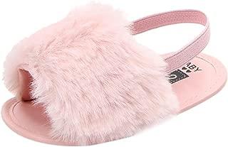 Sandals,Toddler Kids Baby Girls Boys Flock Soft Sole Prewalker Sandals Slipper Casual Crib Flat Shoes