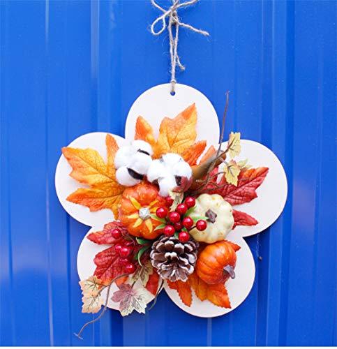 JRZSZMD kerstboomkrans, creatief, hangende slinger, met simulatie, eeuwige bloemen, kunsthandwerk, Xmas Party Shopping Mall voor de deur van glas met vakantiedecor