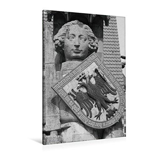 Premium Textil-Leinwand 80 x 120 cm Hoch-Format Ritter Roland in Bremen | Wandbild, HD-Bild auf Keilrahmen, Fertigbild auf hochwertigem Vlies, Leinwanddruck von kattobello