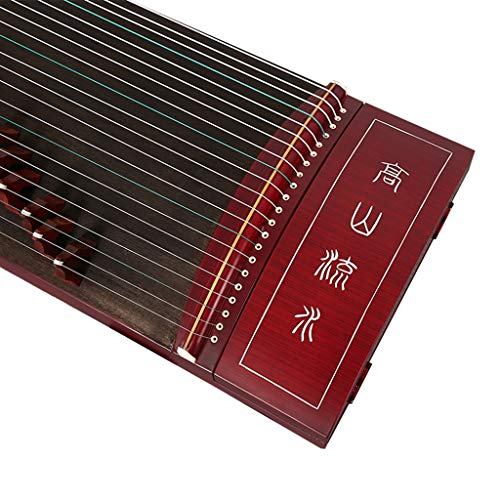 GuanXiao Chinesische Zither Massivholz Mahagoni Farbe Professionelle Grading Spielen Beschriftung Guzheng Ethnic Orchestral Instrument