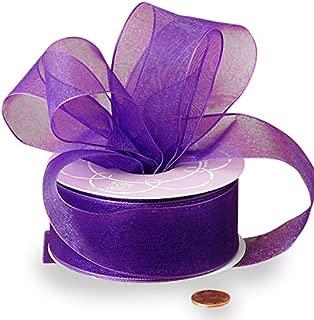 purple organza ribbon