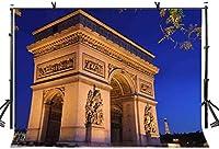 HD 7x5ft有名な建物の背景世界的に有名な凱旋門建築写真撮影背景写真写真の背景小道具スタジオ屋内装飾LYLX535
