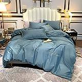 yaonuli Einfache einfarbige vierteilige Baumwollbett Trampolin hell Stein 1,5-1,8 m breites Bett...