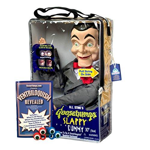 Bonus Bundle! Slappy from Goosebumps Ventriloquist Dummy Doll PLUS Ventriloquism Revealed Booklet PLUS