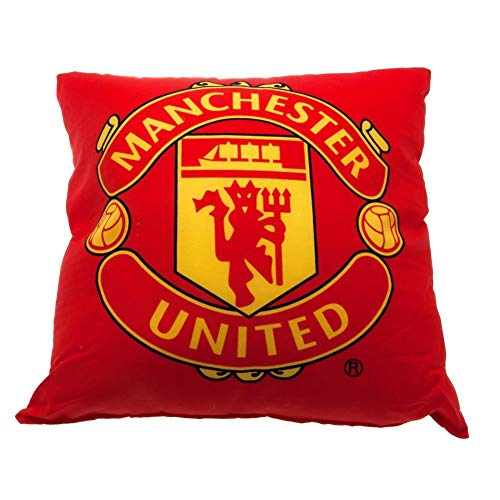 Manchester United FC Red Football Kids Filled Bedroom Cushion OFFICIAL