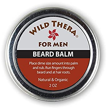 Wild Thera Beard Balm Conditioner Organic Herbals Extracts Natural Oils & Butters to tame soften and style facial hair Repair hair follicles and eliminate dry/flaky skin Promote hair growth.