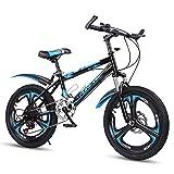 FUFU Bicicleta De Montaña - Engranajes De 18 O 20 Pulgadas - 21 Velocidades, Suspensión De Horquilla, Bicicleta for Niños for Niños Y Niñas (Color : Blue, Size : 18in)