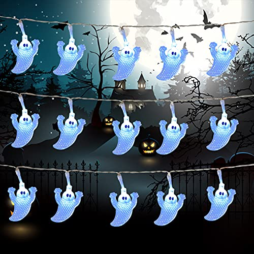 Ghost Light String 15 Ft 30 Led Halloween Lights Only $6.59 (Retail $11.99)