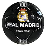 Real Madrid Football Club Official Size 5 Black Since 1902 Ball Practice Badge