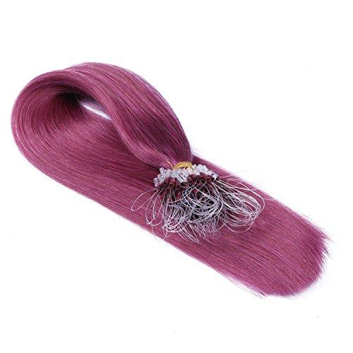 Micro-Ring / Loop Hair Extensions (#VIOLETT - 60 cm - 150 Strähnen - 1g) 100% Remy Echthaar Haarverlängerung Micro Ring Remy Qualität, ganz leicht einzusetzen - by Haar-Profi