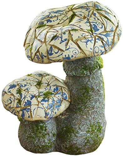 kglkb Statues For Home Decor,Creative Garden Mushroom Sculpture Ceramic Toadstool Outdoor Decoration Novelty Statue Fairy Garden Ideal For Gnomes And Elves A-B