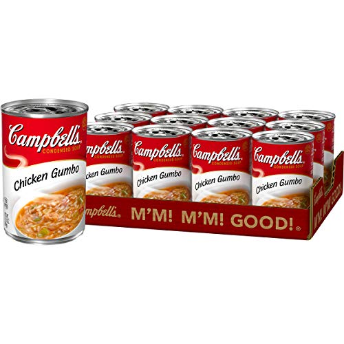 Campbell'sCondensed Chicken Gumbo Soup, 10.5 Ounce (Pack of 12) (Packaging May Vary)