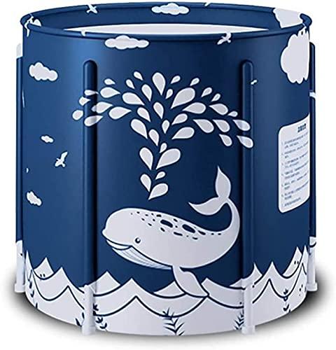 RENXR Bañera Portátil Remojar La Bañera De Pie Bañera De Hidromasaje para Baño Familiar Separada Plegable Mantenimiento Eficiente De La Temperatura para Baño Caliente Baño De Hielo