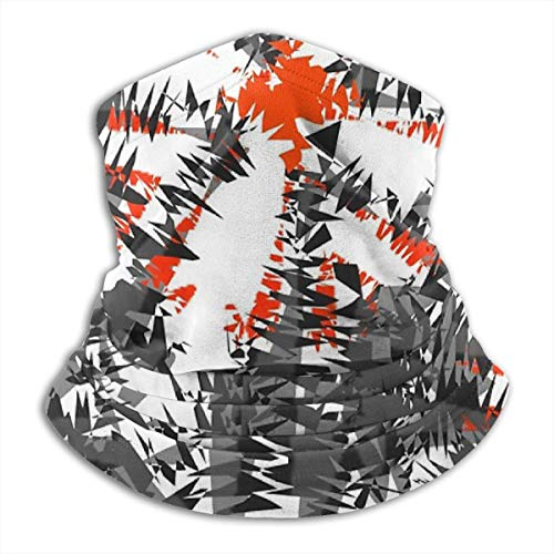 Ikat Modern Funky Abstract Kolen Grijs Oranje Mix Patroon Kussen Microvezel Nek Warmer Vissen Ski Beschermende Nek Sjaal