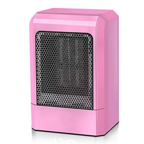 LAJIOJIO Heizlüfter Keramik Kleine Tragbare Elektrische 500W mit Überhitzungsschutz Leise Mobiler PTC Heizlüfter Thermostat für Bürotisch und den Heimgebrauch