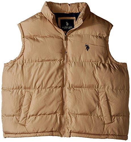 U.S. Polo Assn. Men's Basic Puffer Vest, Black, Large