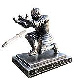 ThreeH Porta penne Executive Knight per organizer da ufficio con una penna per il miglior regalo ad un amico grigio