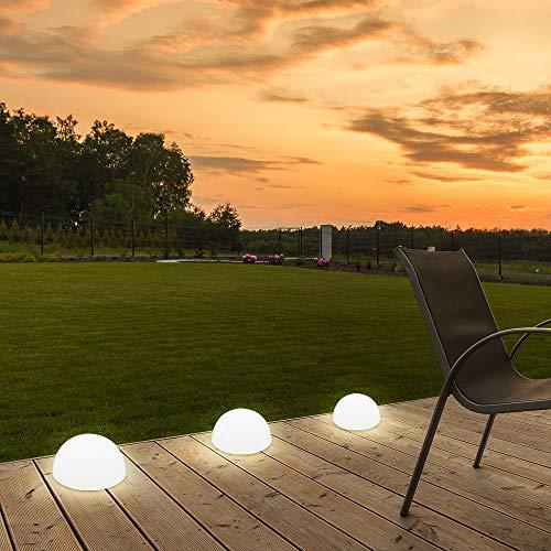 LED Solarleuchte Kugelform Außenbereich Garten Leuchte Lampe Beleuchtung