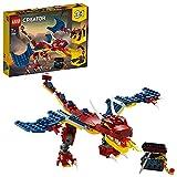 LEGO31102CreatorDragónLlameanteSetdeConstrucción3en1DientesdeSableoEscorpiónparaNiñosyNiñas+7años