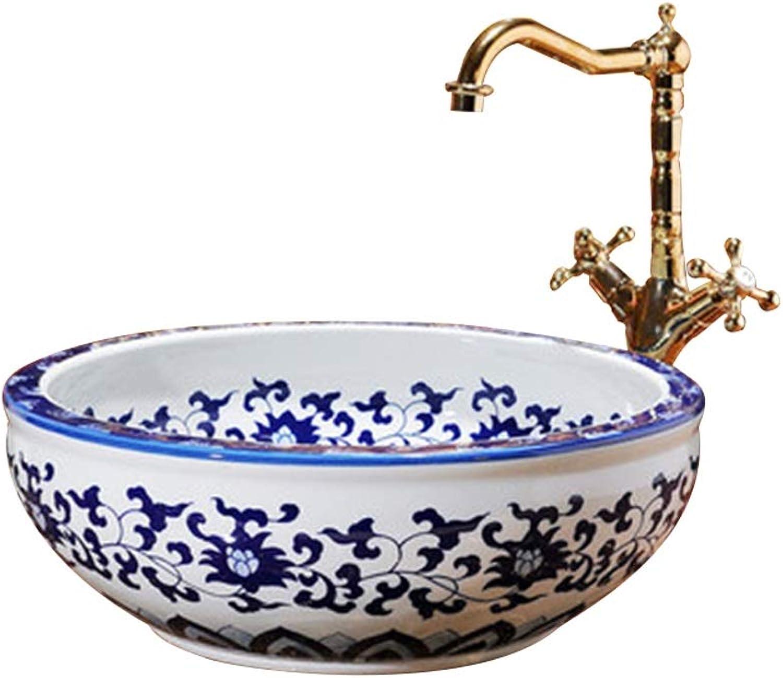 Keramikwaschbecken, Runde Aufsatzwaschbecken, 41 X 15 cm (Wasserhahn Nicht Im Lieferumfang Enthalten) Waschbecken Waschpltze