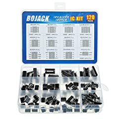 BOJACK high quality 12 Values 120 Pcs IC Assortment Kit Packed Sorted accordingly in A Plastic Storage Case Huge IC Assortment contains: LM324N, LM339N, ULN2003AN, ULN2803APG, LM358P, LM386, LM393, NE5532P, NE555P, UA741CN , JRC4558D, PC817 Including...