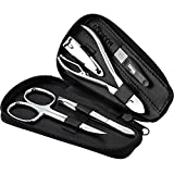marQus Manicure Set 12 German Made Nail Kit - Grooming Set - Genuine Leather Case
