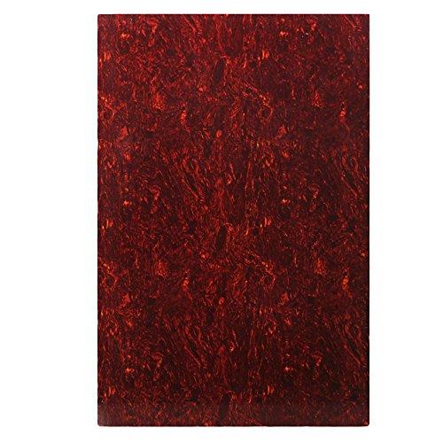 yibuy 29x 43cm, dreilagig Schlagbrett Gitarre Pickguard Blatt rot