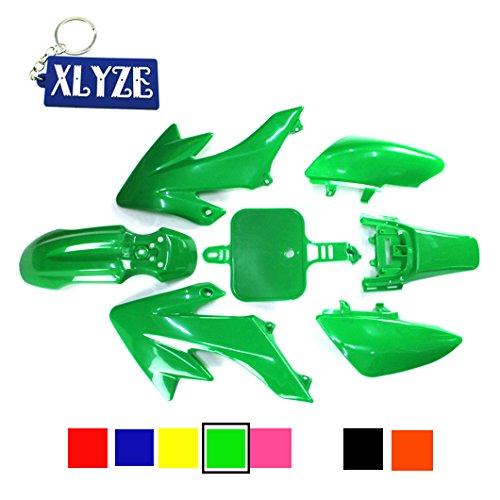 XLYZE Verde carenado kit de defensa de plástico para Honda Piranha CRF50 XR50 50cc 70cc 90cc 110cc 125cc 140cc 150cc 160cc suciedad Pit Bike SDG SSR