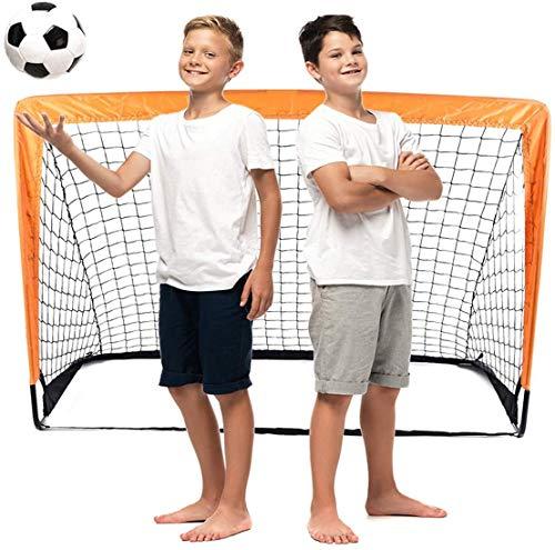 Raroauf faltbar Tor, Fußball Tor Pop Up Fussballtor klappbar Fussballtore für Kinder Garten Fussball Tor Football Ball Tore 120 x 80 x 80 cm