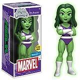Funko - Figurine Marvel - She Hulk Glow In The Dark Exclu Rock Candy 15cm - 0889698126717