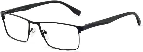 OCCI CHIARI OCCI CHIARI Blue Light Filter Computer Glasses for Mens Rectangle Eyewear Prescription Clear Optical Eyeglasses