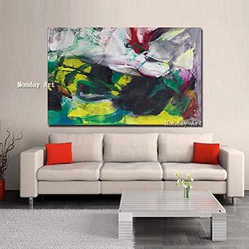wZUN Gran Arte Pop Arte contemporáneo Pintura al óleo Abstracta Original decoración de Arte de Pared Pintura al óleo Abstracta Colorida 40x60 Sin Marco