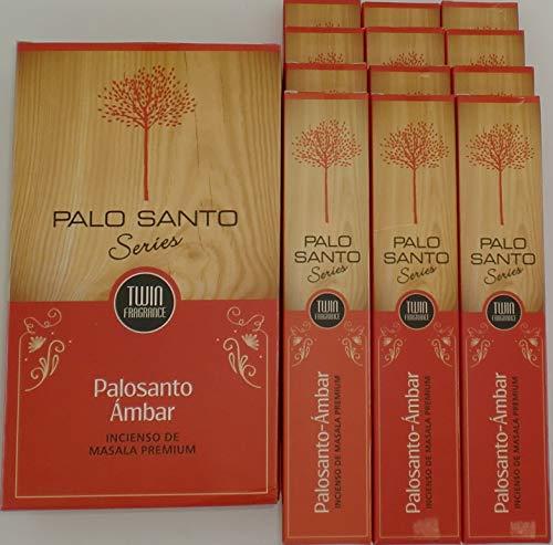 Sri Durga Palo Santo Ambar – Incienso (PaloSanto Amber), 12 paquetes de 15 gramos c/u