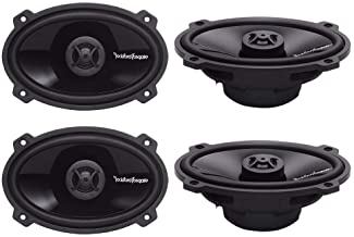 "4) ROCKFORD FOSGATE P1462 4x6"" 280W 2-Way Full Range PUNCH Car Audio Speakers photo"